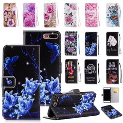 Flip Pattern Leather Case Wallet Stand Phone Cover For iPhon