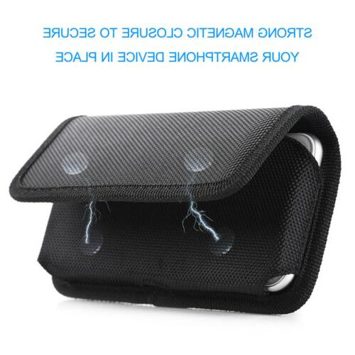 Case Cover Pouch Horizontal Flip Belt Clip Holster for Large