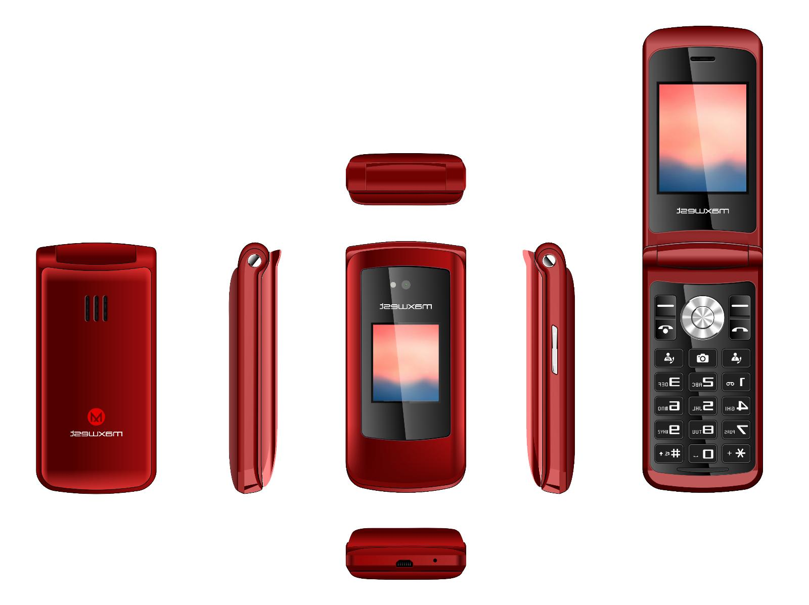Flip 3G Maxwest Vice Factory Unlocked LCD GSM Single Cam RED