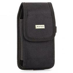 RUGGED CANVAS CASE HOLSTER with SWIVEL BELT CLIP POUCH COVER